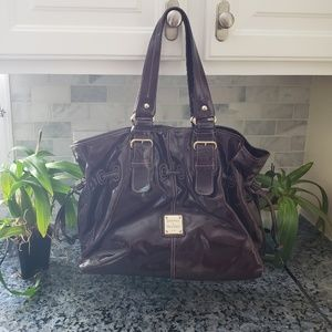 Dooney and Bourke patent leather drawstring bag